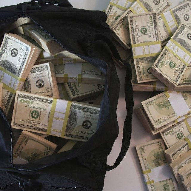 Duffle Bag Of Prop Money