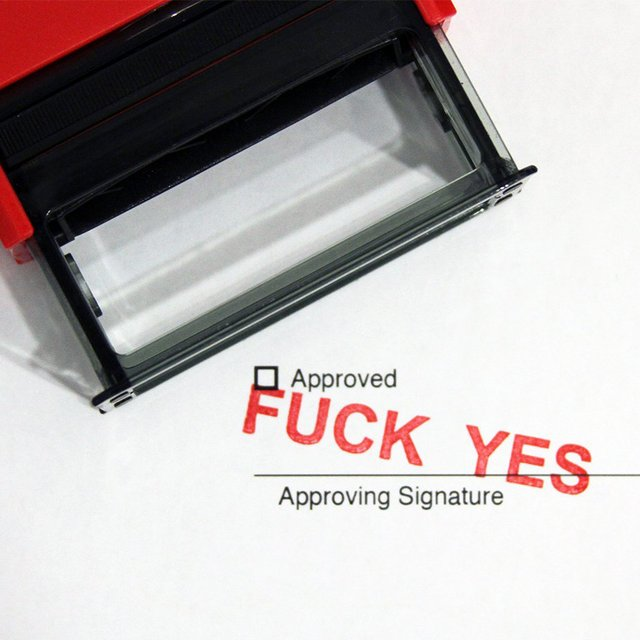 F#ck Yes Stamp