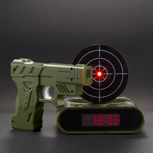 Gun Target Alarm Clock