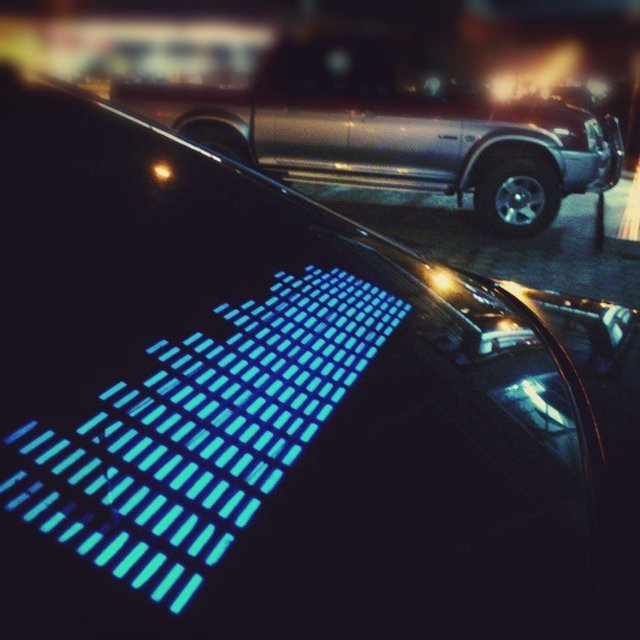 Music Activated LED Car Sticker