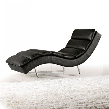 Sinuous Leatherette Chaise