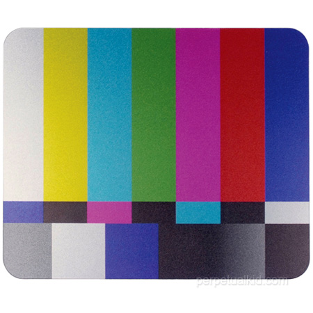TV Test Mouse Pad